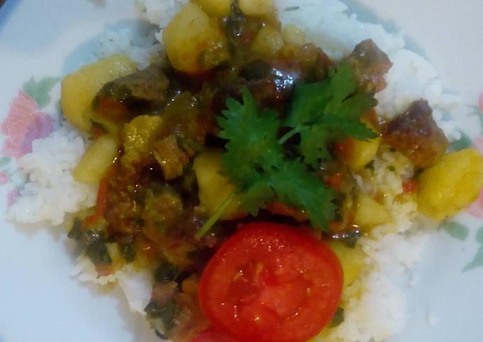 Beef stewed Rice