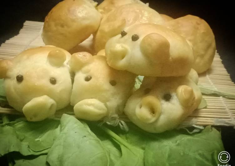 How to Prepare Speedy Spinach cheese filled piglets bun