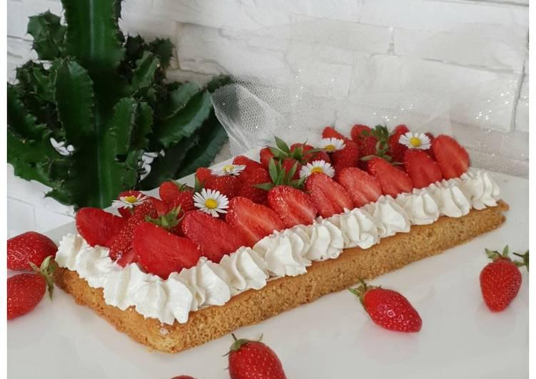 Tarte aux fraises façon bretonne