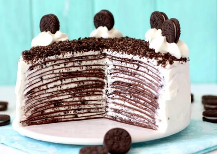 Tarta De Crêpes De Chocolate Y Oreo Receta De Lolita La Pastelera Cookpad