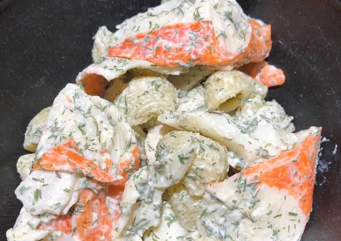 Imitation Crabmeat Pasta Salad