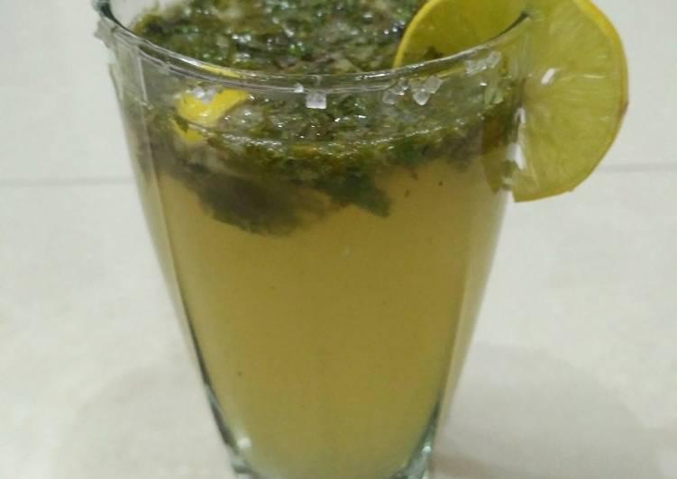Lemon mint mojito restaurant style