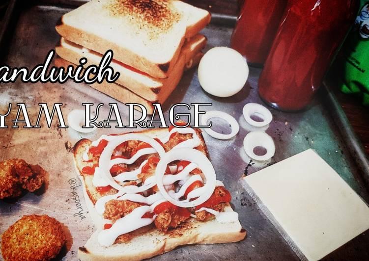 Sandwich Ayam Karage
