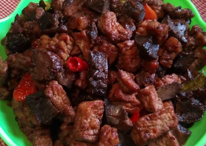 sambal goreng basah (tempe,tahu+ampela) - resepenakbgt.com