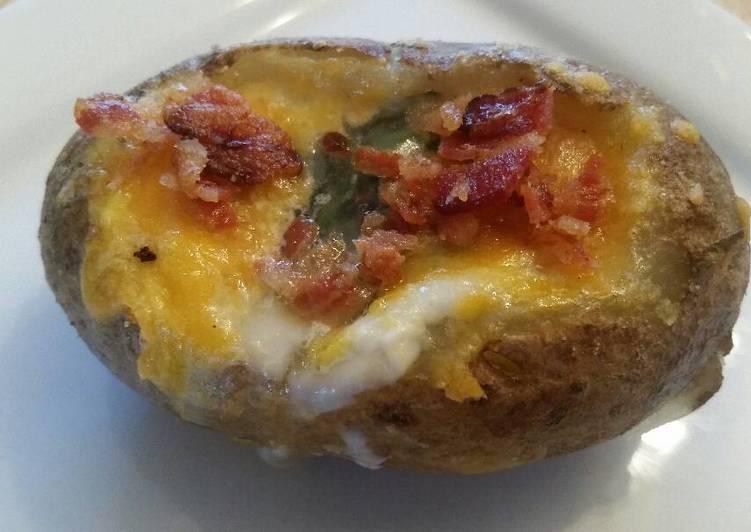 Bacon-Basil Potato Bowls