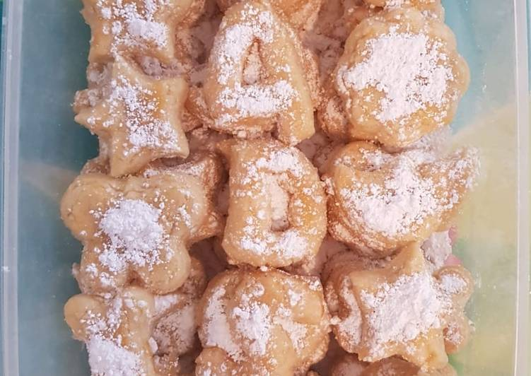 Butter Cookies atau Putri salju sederhana 4Ds
