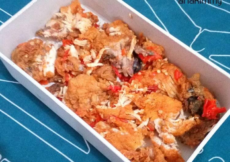 Ayam Geprek Garing