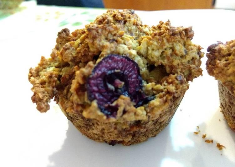 Cherry Mango Oats muffin (sugar free, gluten free)樱桃芒果燕麦马芬