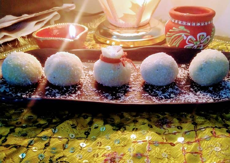 Easiest Way to Make Favorite Coconut laddu made from milk and desiccated coconut Powder