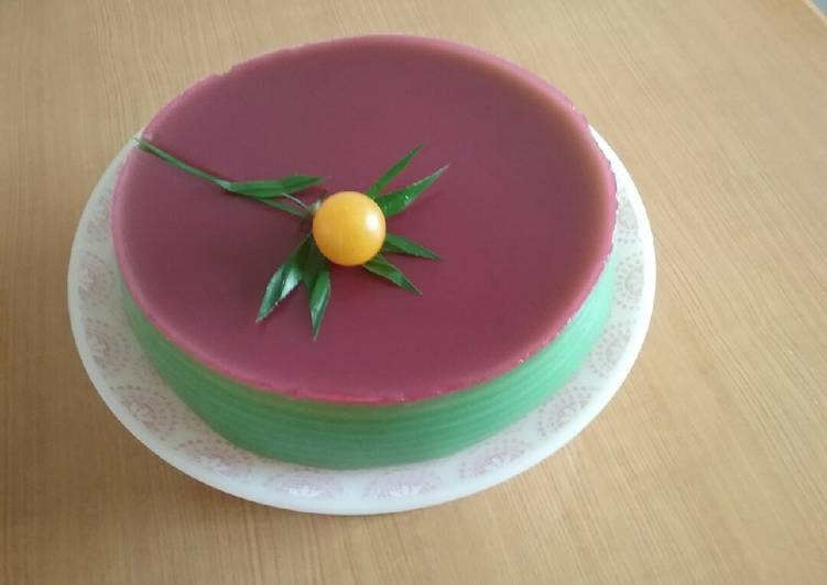 Kue lapis bulat lembut kenyal tepung tapioka & tepung beras