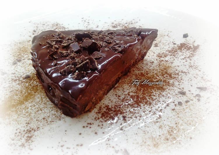 Ricetta Torta capovolta al cacao, mandorle e ganache di cioccolato fondente