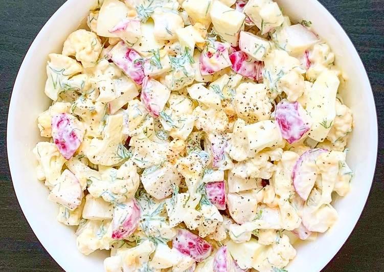 Recette Délicieux Salade de pomme de terre sauce au yaourt