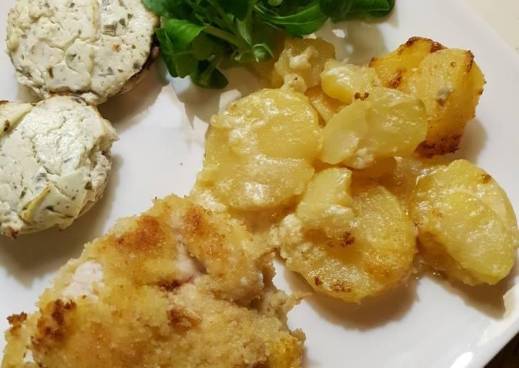Comment Préparer Des Cordon bleu raclette et champignons farcis