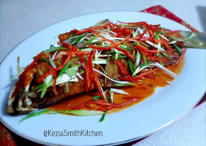 Sweet and sour cod fish