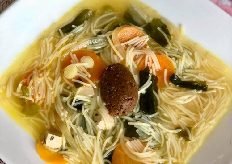 Sopa Miso Vegano Receta De Libélula Vegetariana Cookpad