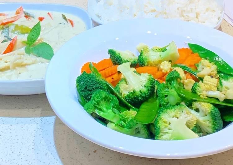 Mixed vegetable stir-fry