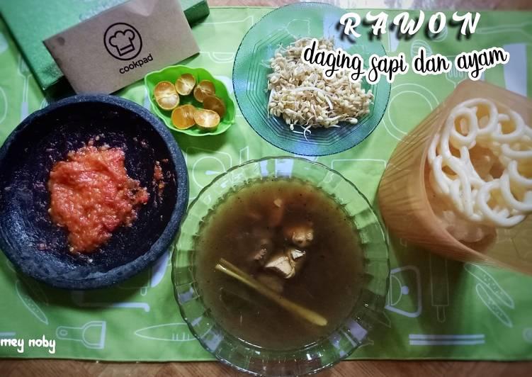 Rawon Daging sapi Dan Ayam