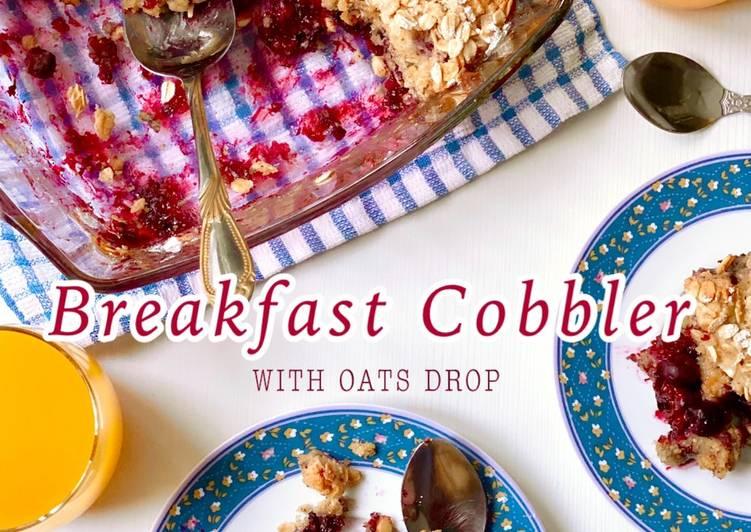 Breakfast Cobbler with Oats Drop (Mixed Berry Oats Crumble)