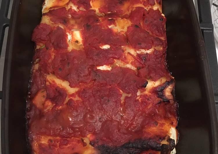 Cannelloni chèvre - tomate