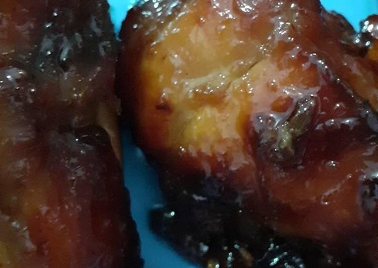 Baceman ayam goreng sederhana