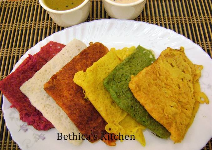 Recipe of Jamie Oliver Colourful Neer Dosa