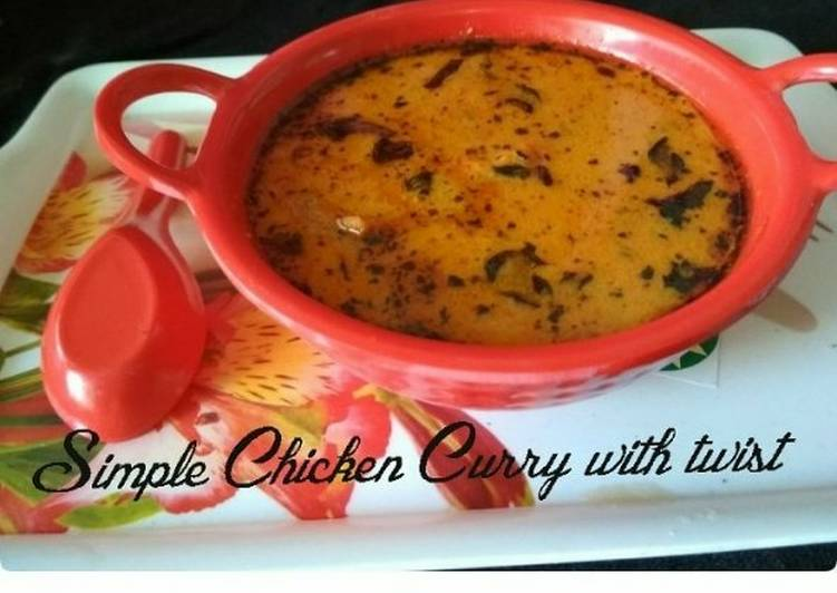 Simple Chicken Curry With Twist