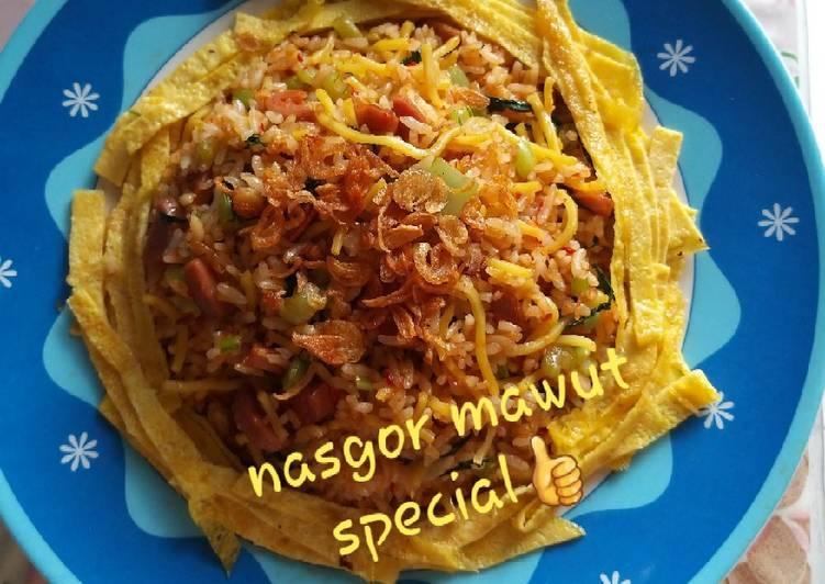 Resep Nasgor mawut special , Enak