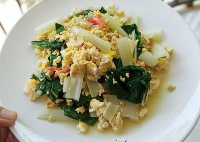 Tumis sawi,tahu dan telur (Diet)