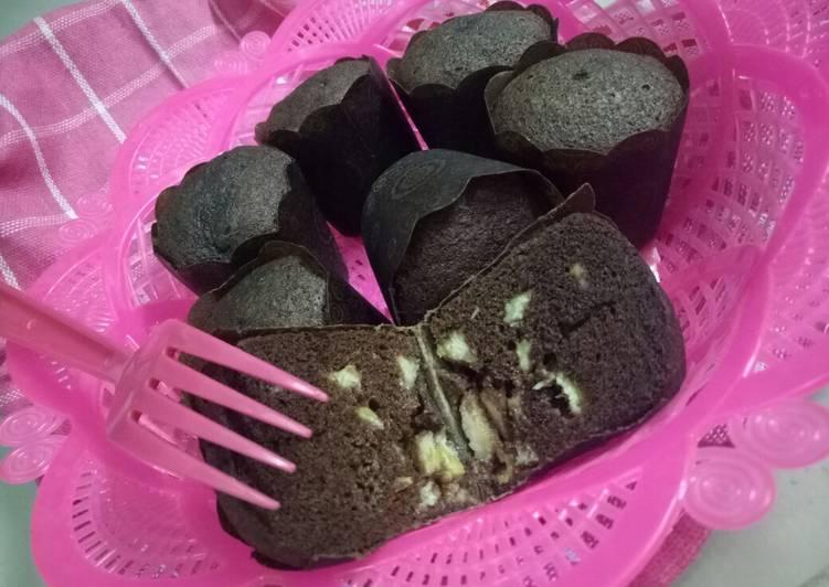 Brownies pisang moist (lembut, no oven)