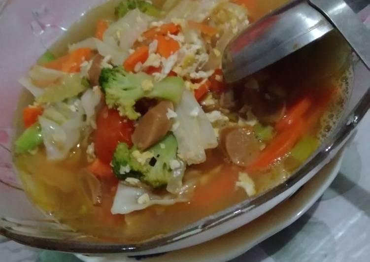 Resep Capcay Kuah Telur Sayur Oleh Ann Mouri Cookpad