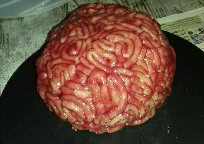 Gâteau cervelle au chocolat et à la chantilly au mascarpone