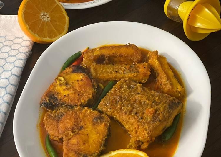 Rohu Rui Fish In Orange Juice Gravy