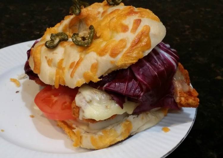 Brad's buffalo chicken burger