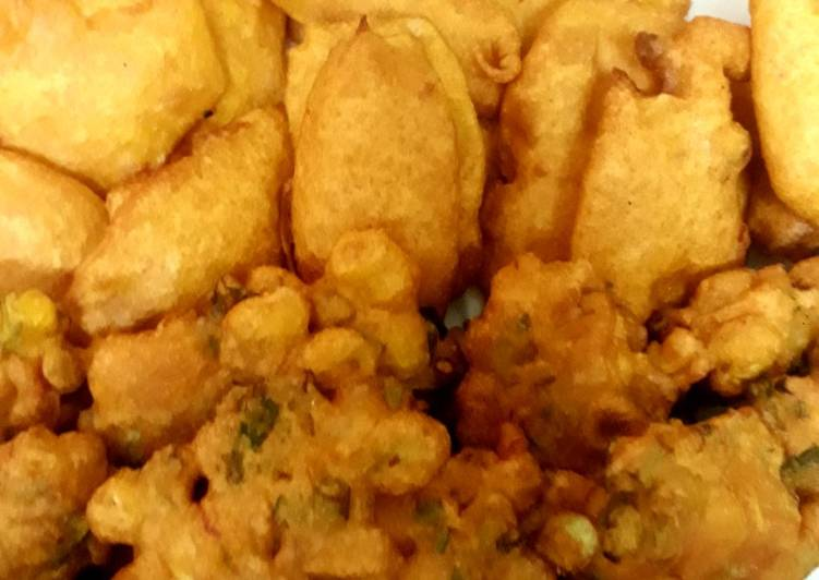 Recipe of Quick Quick corn and potato fritters (one batter)😊