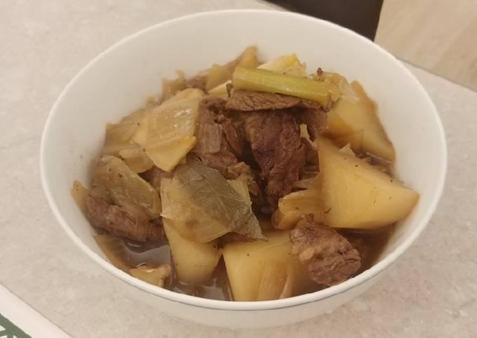 清湯蘿蔔牛肉 (Radish Beef Broth)