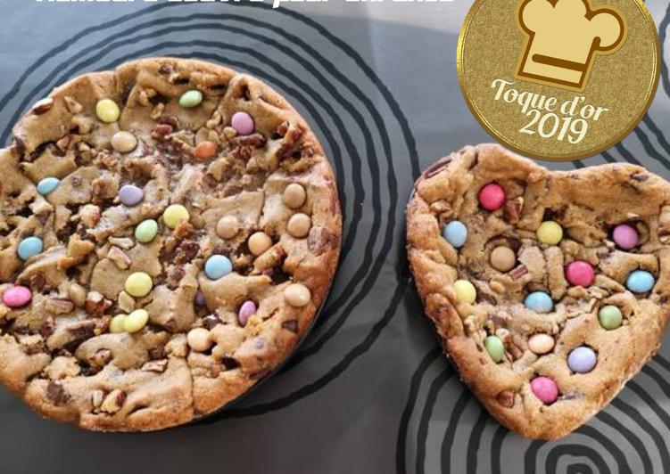 Cookie géant et son cœur déco smarties