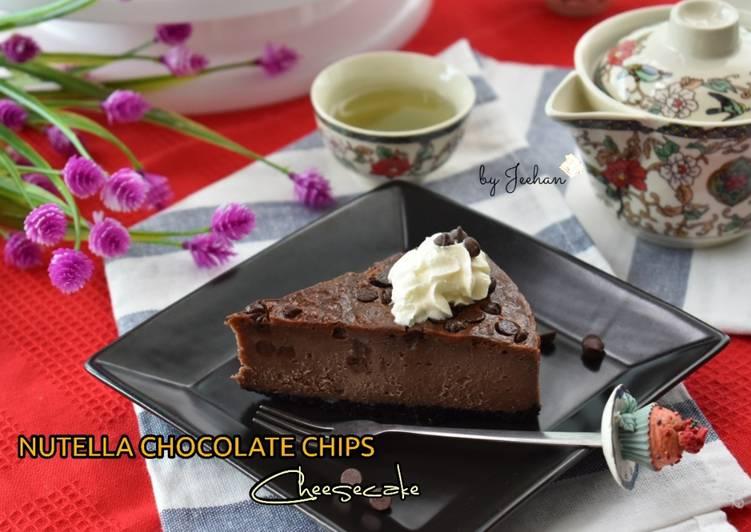 NUTELLA CHOCOLATE CHIPS Cheesecake#SelasaBisa