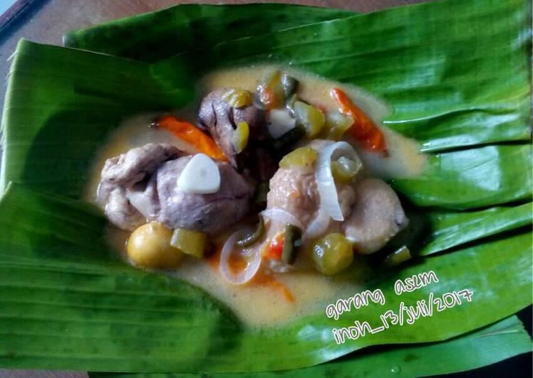 Resep Garang asem ayam+uritan