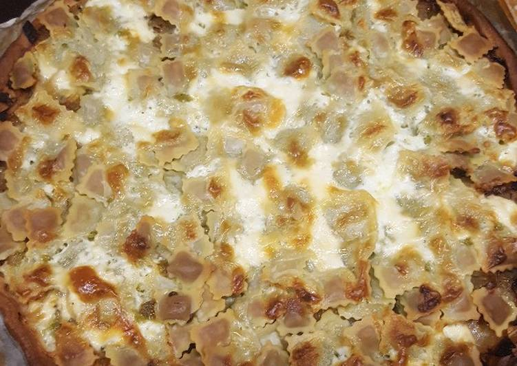 Tarte oignon ravioles