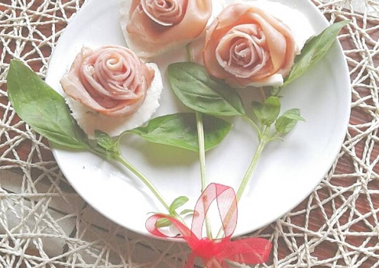 Antipasto di Rose e mozzarella light (ricetta light)