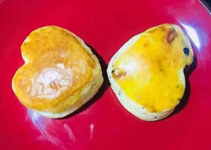Sweet potato fruit scones