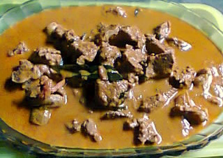 Kari daging kental super pedas