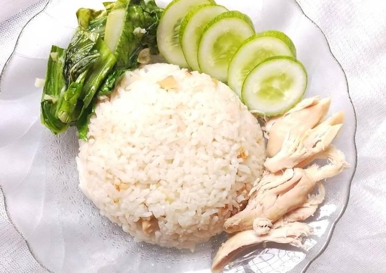 Nasi Hainan rice cooker ANTI RIBET, enak banget!