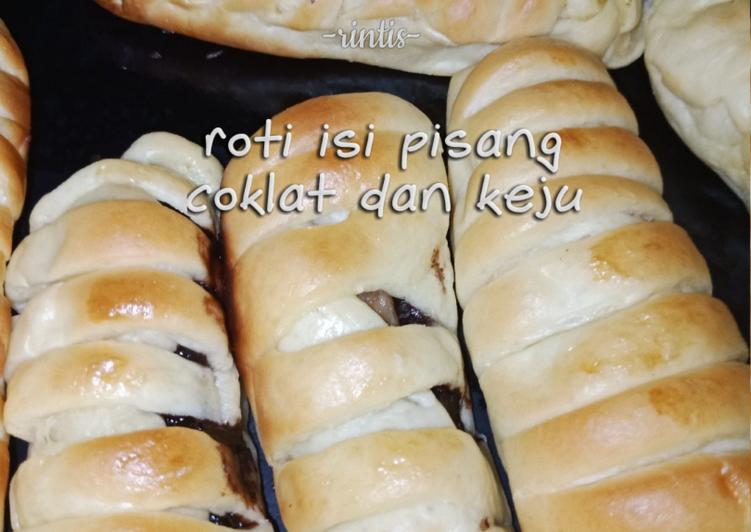 Roti  Isi Pisang Coklat dan Keju