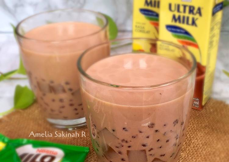 Milo Jelly Sago Salad