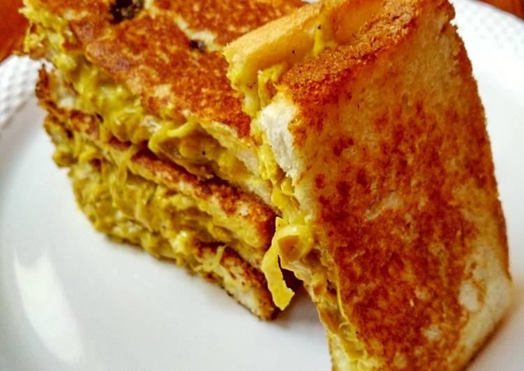 Easiest Way to Make Quick Chicken Masala Sandwich
