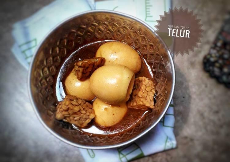 Semur tempe telur