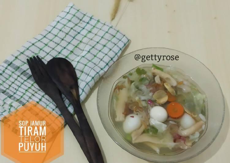 Sup Jamur Tiram Telor Puyuh
