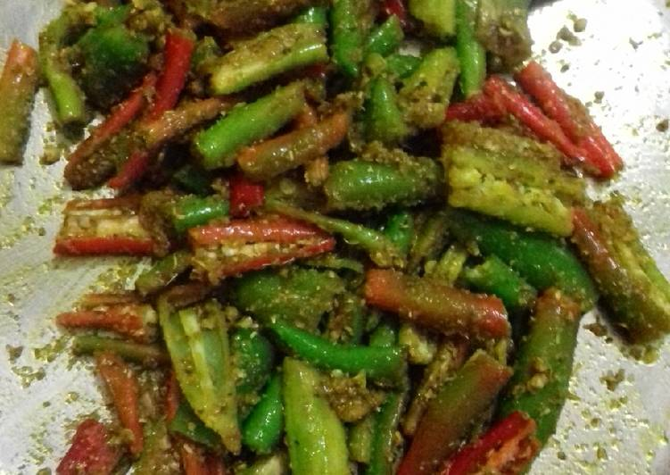 Easiest Way to Make Homemade Green chilli pickle