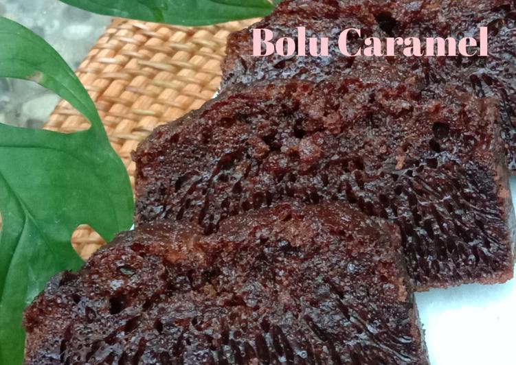 32. Bolu Caramel (Sarang Semut) - cookandrecipe.com